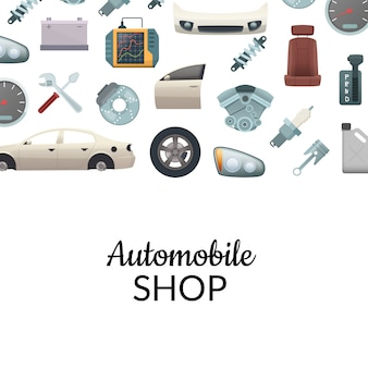 Car parts background