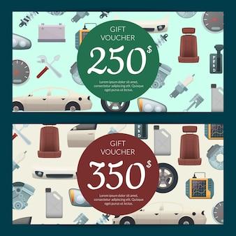 Car parts discountgift voucher