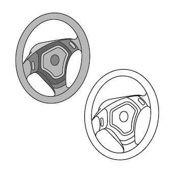 Car parts icons isometric vector