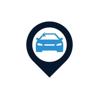 車のピンの場所のロゴデザイン