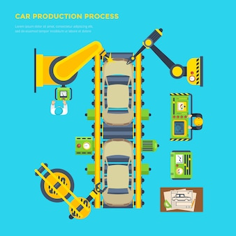 Car production line poster