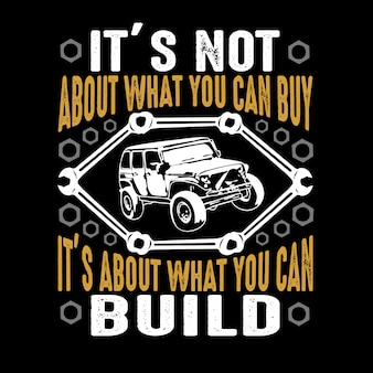 Car quote and saying. it's not about what you can buy