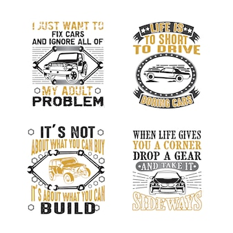 Car quote and saying set bundle