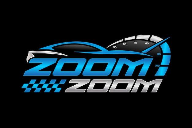 Car racing logo