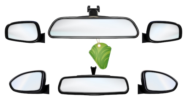 Car rearview mirrors with air freshener set