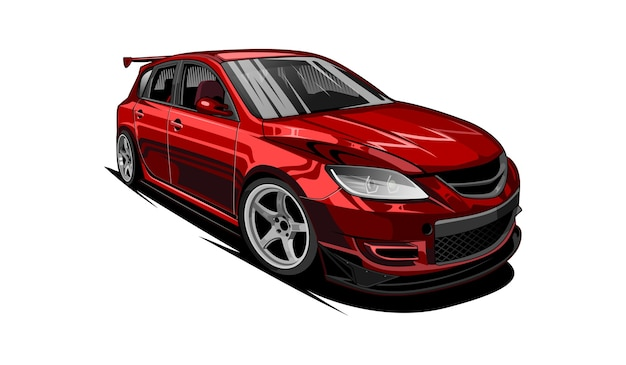 車の赤いスポーツ