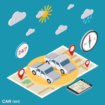 Car rent illustration