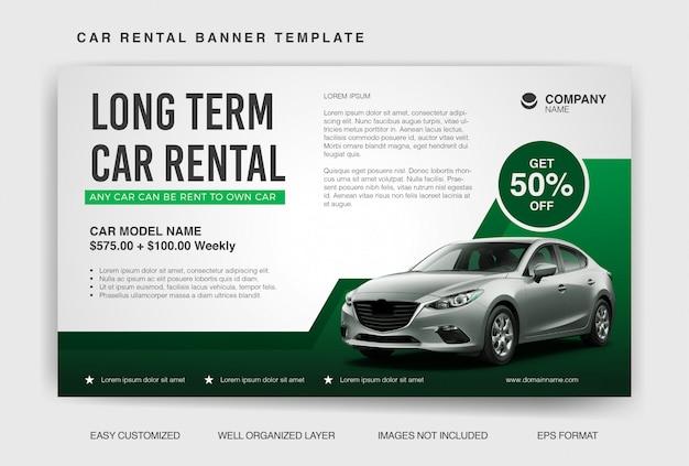Car rental banner template