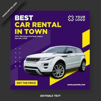 Car rental instagram design   template