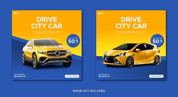 Car rental promotion sale social media instagram post banner template