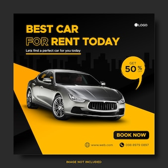 자동차 렌탈 프로모션 소셜 미디어 instagram 게시물 배너 템플릿