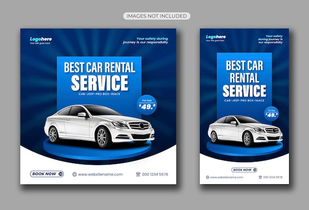 Car rental social media post