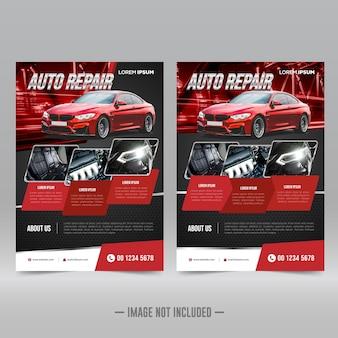 Car repair flyer design template