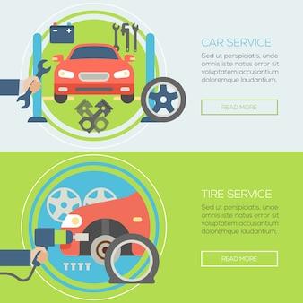 Car repair service banner template