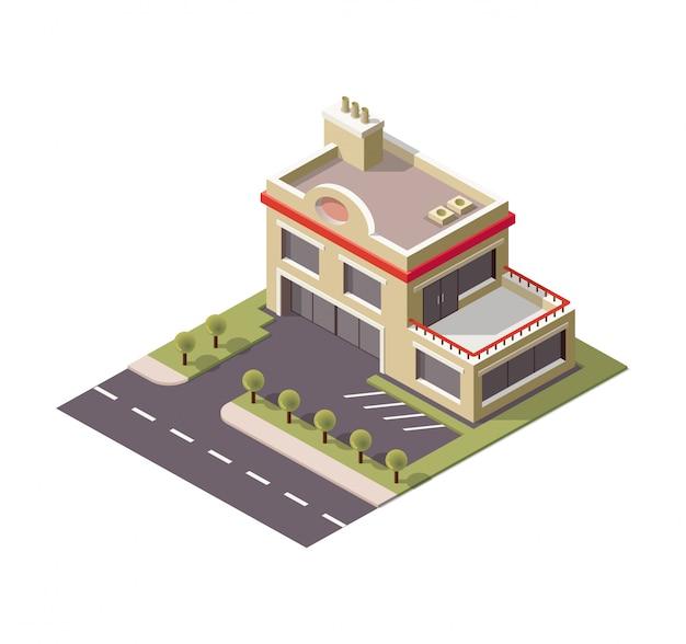 자동차 수리 서비스 차고 건물.
