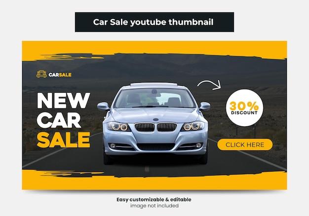 Car sale promotion youtube thumbnail design car rental service video thumbnail