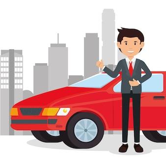 Car salesman cartoon
