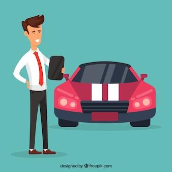 Car salesman design Free Vector