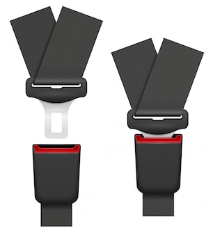 Car seat belt for safety in case of accident