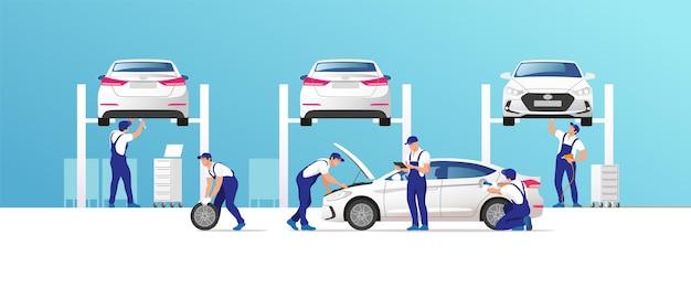 車のサービスと修理。
