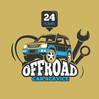 Car service and automotive repair vector concept