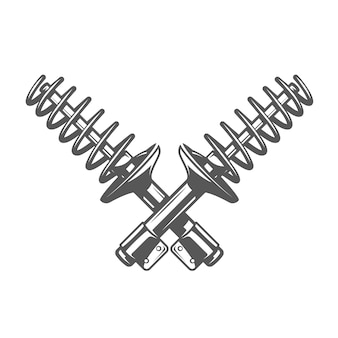 Car service design. shock absorber isolated on white background.