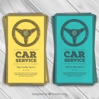Car service flyers Premium Vector