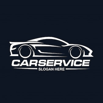 Car Service logo negative