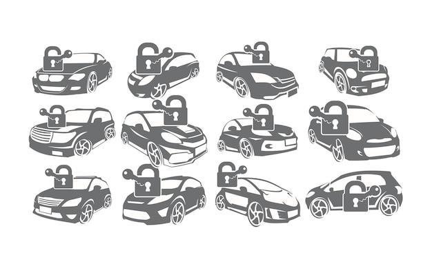 Car service logo set bundle collections