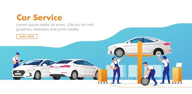 Car service and repair.