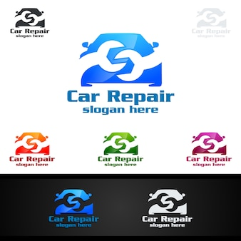 Car service vector logo design