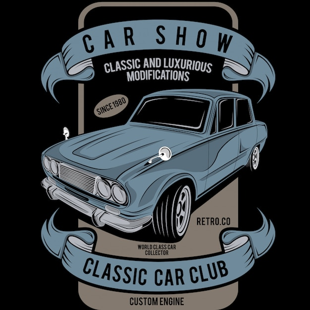 Car show classic modifications
