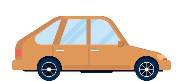 車の側面図ベクトル図