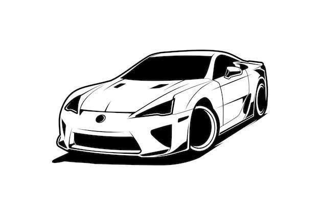 Силуэт автомобиля