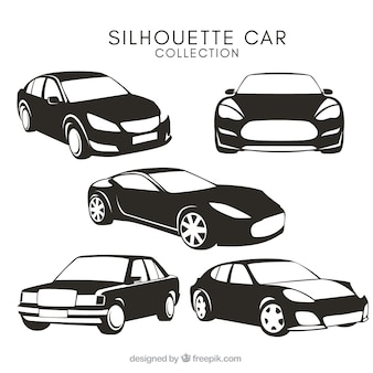 Car silhouettes with different designs