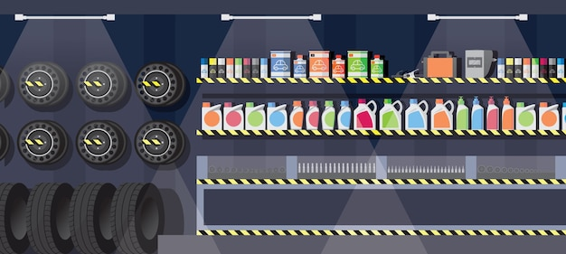 Car spare parts shop