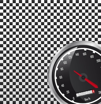 Car speedometer with space for copy vector illustration