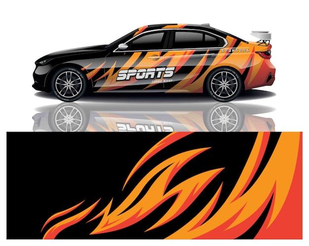 Car sport decal wrap