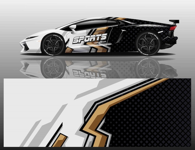 Car sport decal wrap