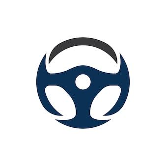 Car steering wheel logo illustration vector