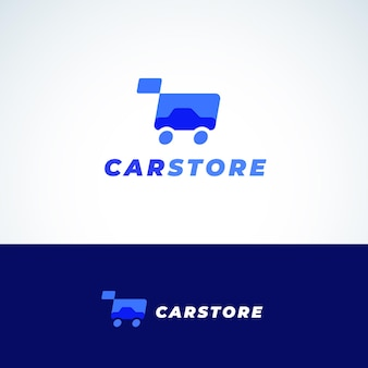 Car store abstract vector sign, symbol or logo template