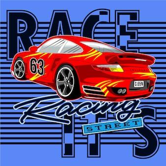Car on street race