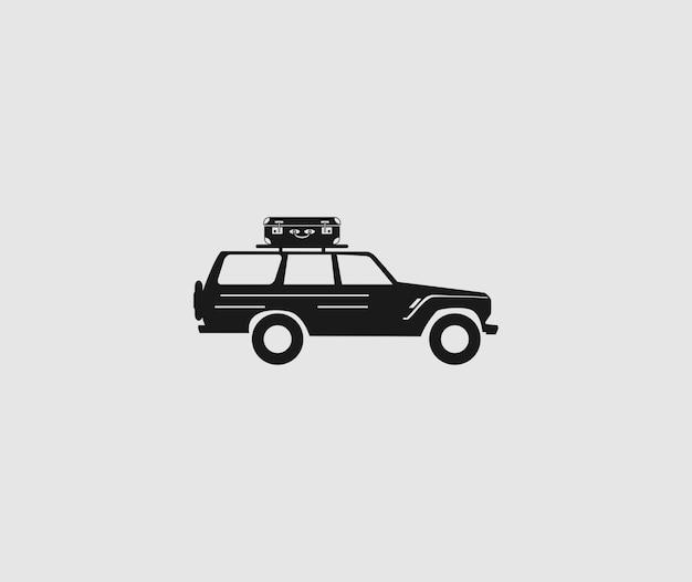 Автомобиль внедорожник иконка вектор