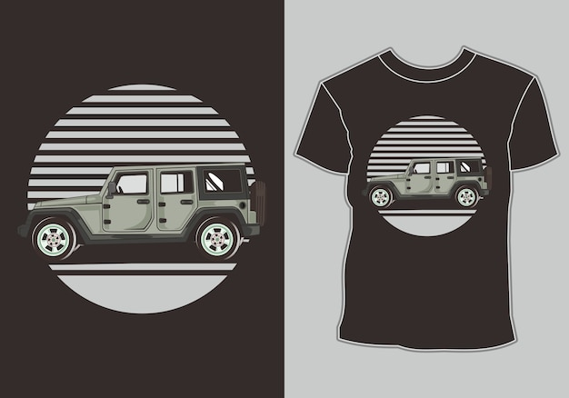 Car t shirt ,isolated easy to