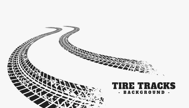 Car tire track wheel print background