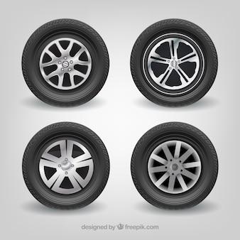 Car tires Mercedes-Benz realistic vector set