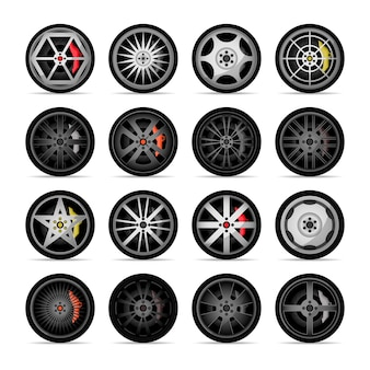 Car titanium rim icon collection