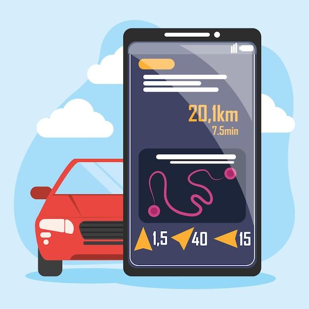 車の輸送アプリ