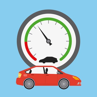 Car transport and speedometer industry automotive