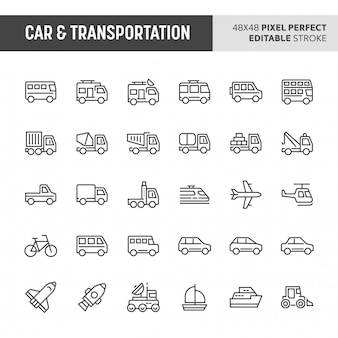Car & transportation icon set